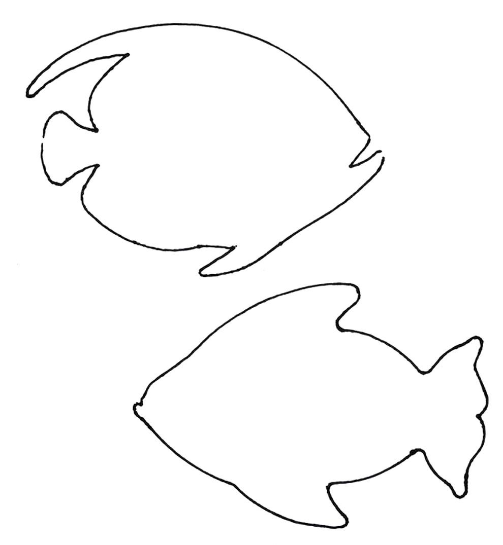 Molde de peixes para imprimir