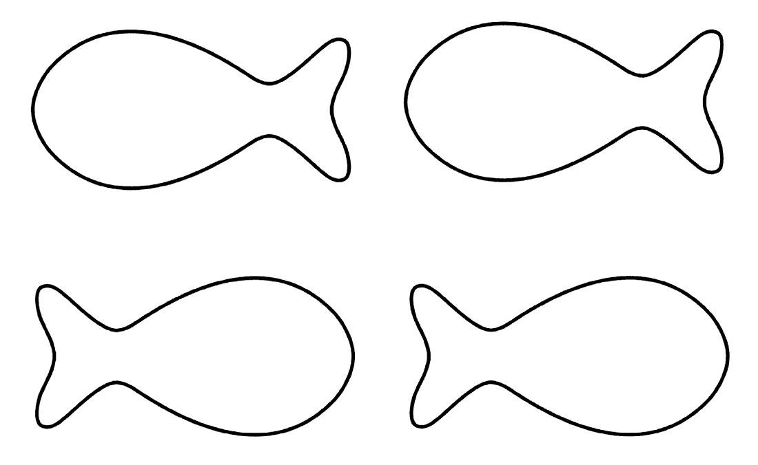 Moldes simples de peixes