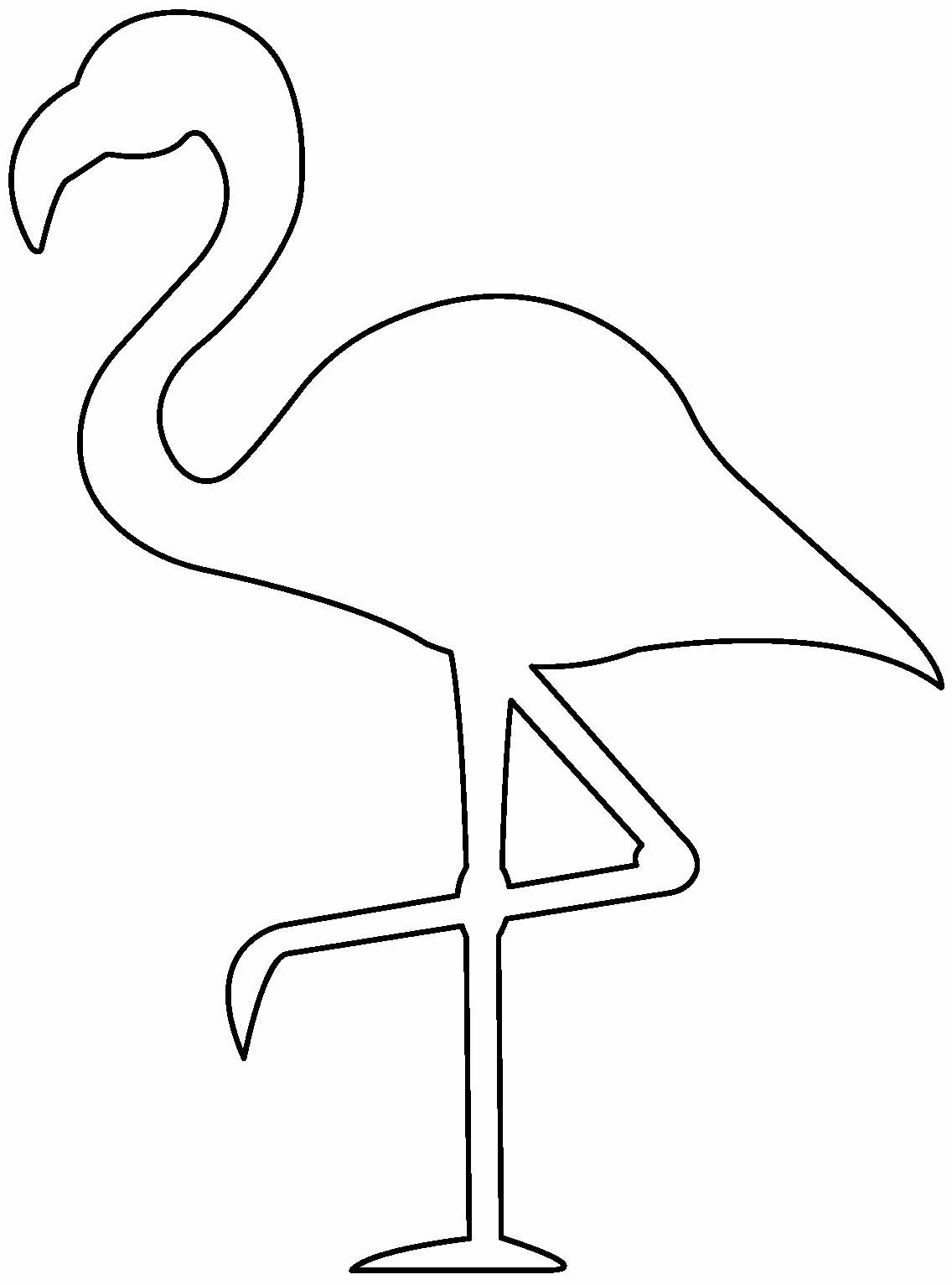Molde para fazer enfeite de flamingo