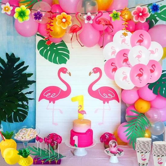 Decoração com flamingos