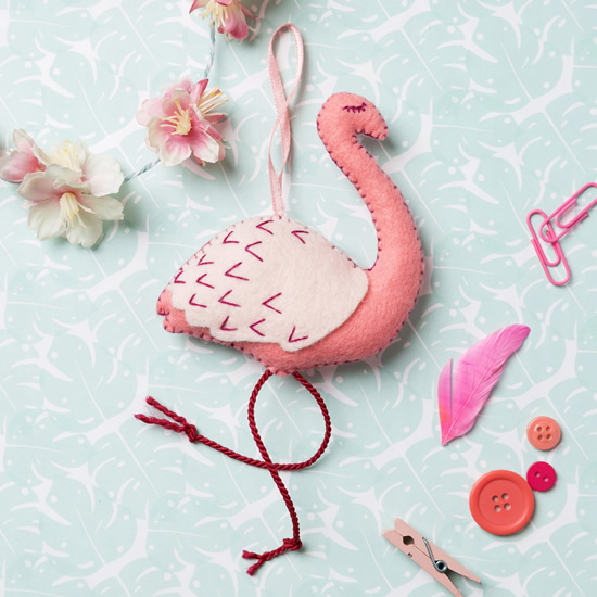Flamingo de feltro