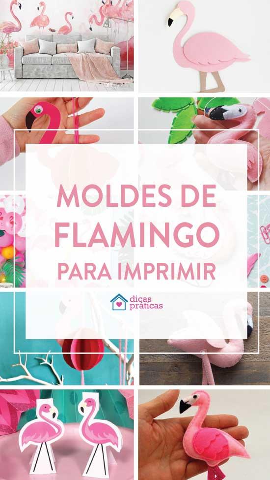 Moldes de flamingo: 30 modelos e ideias