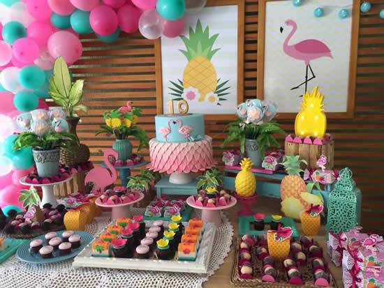 Decoração para Festa Flamingo