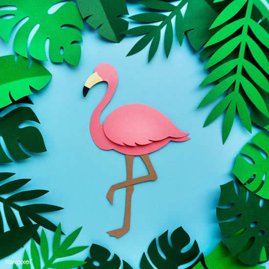Flamingo de papel