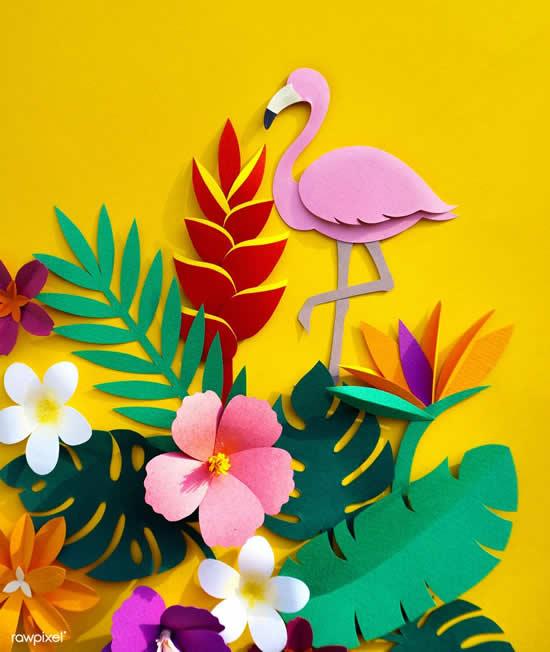 Decoração linda com flamingos