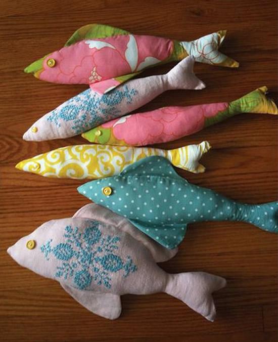 Peixes de tecido