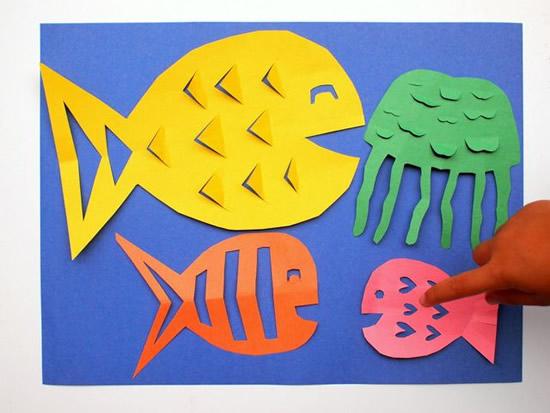 Peixes de papel