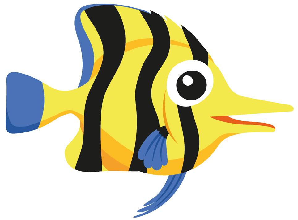 Molde colorido de peixinho