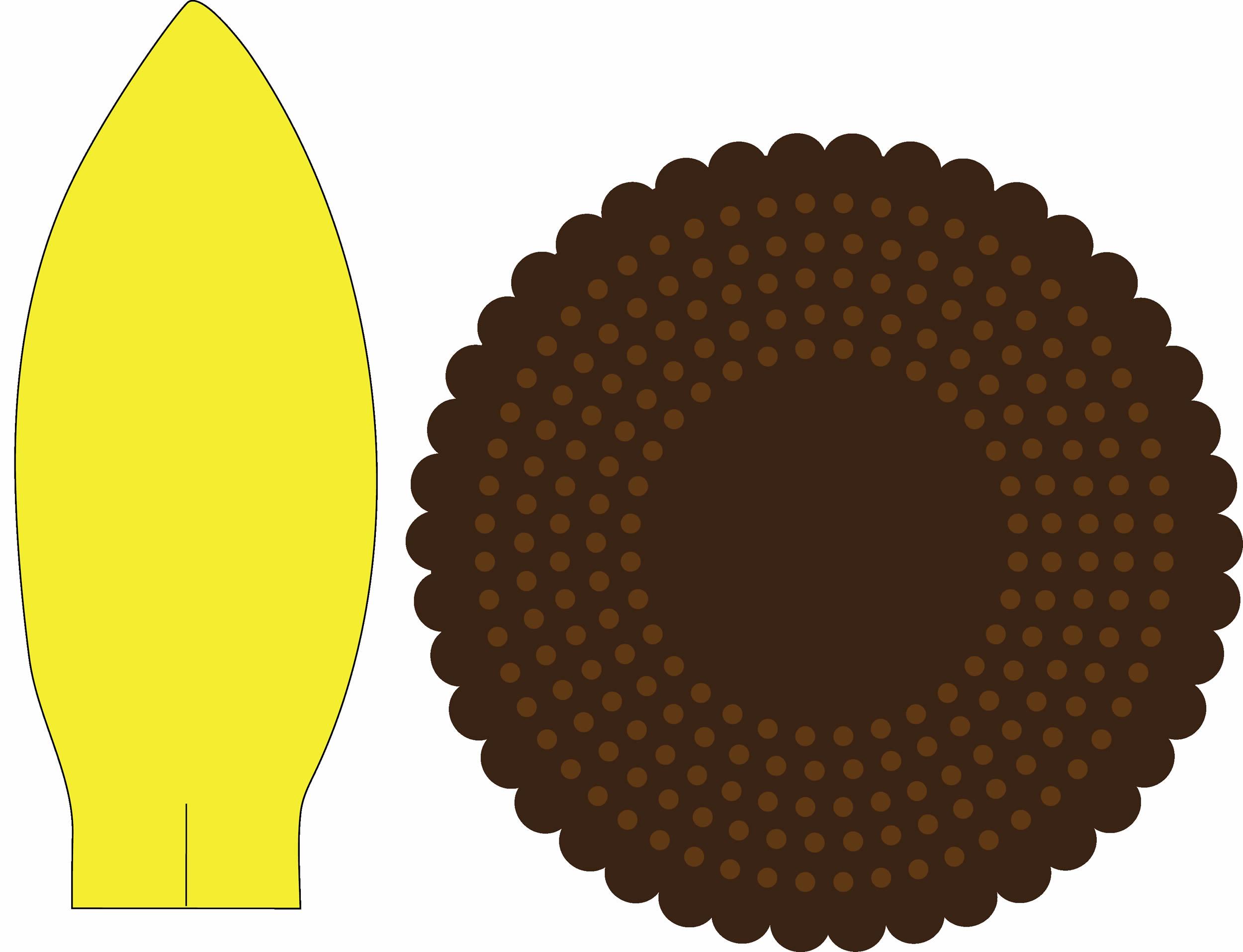 Molde para Girassol