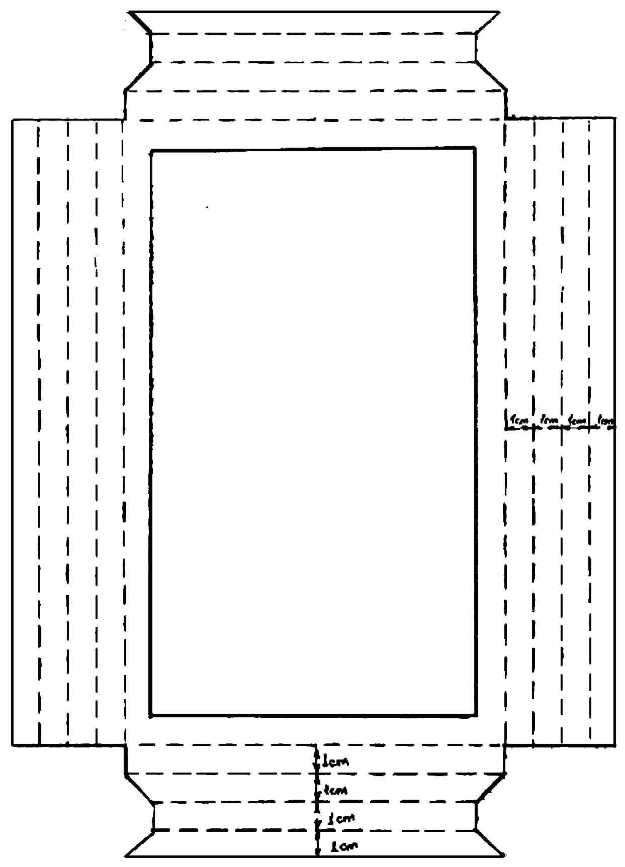 Molde de moldura de papel para foto