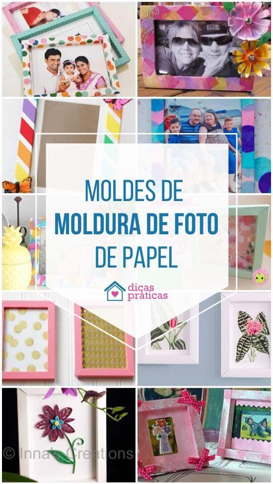 Moldes de moldura de foto de papel
