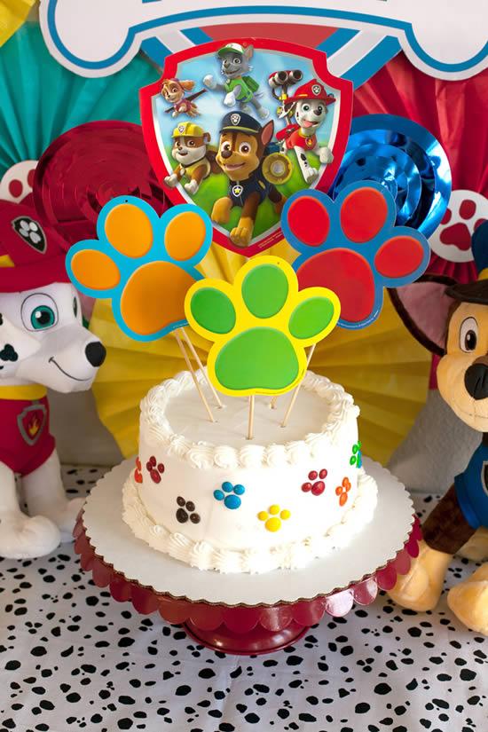 Bolo para Festa Patrulha Canina