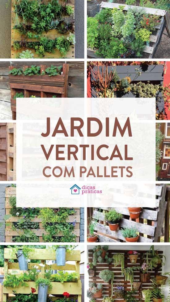 Como fazer jardim vertical com pallets