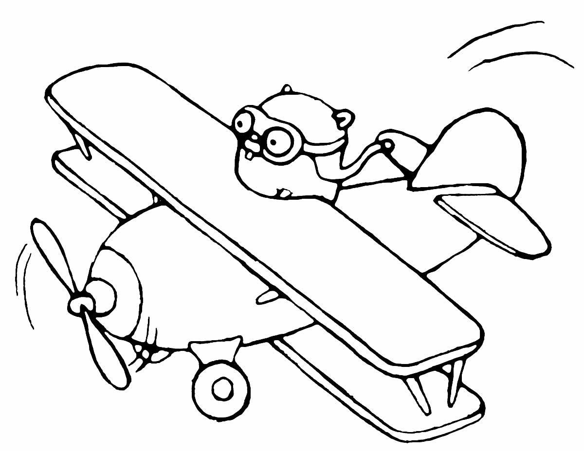 Desenho de aviãozinho para colorir