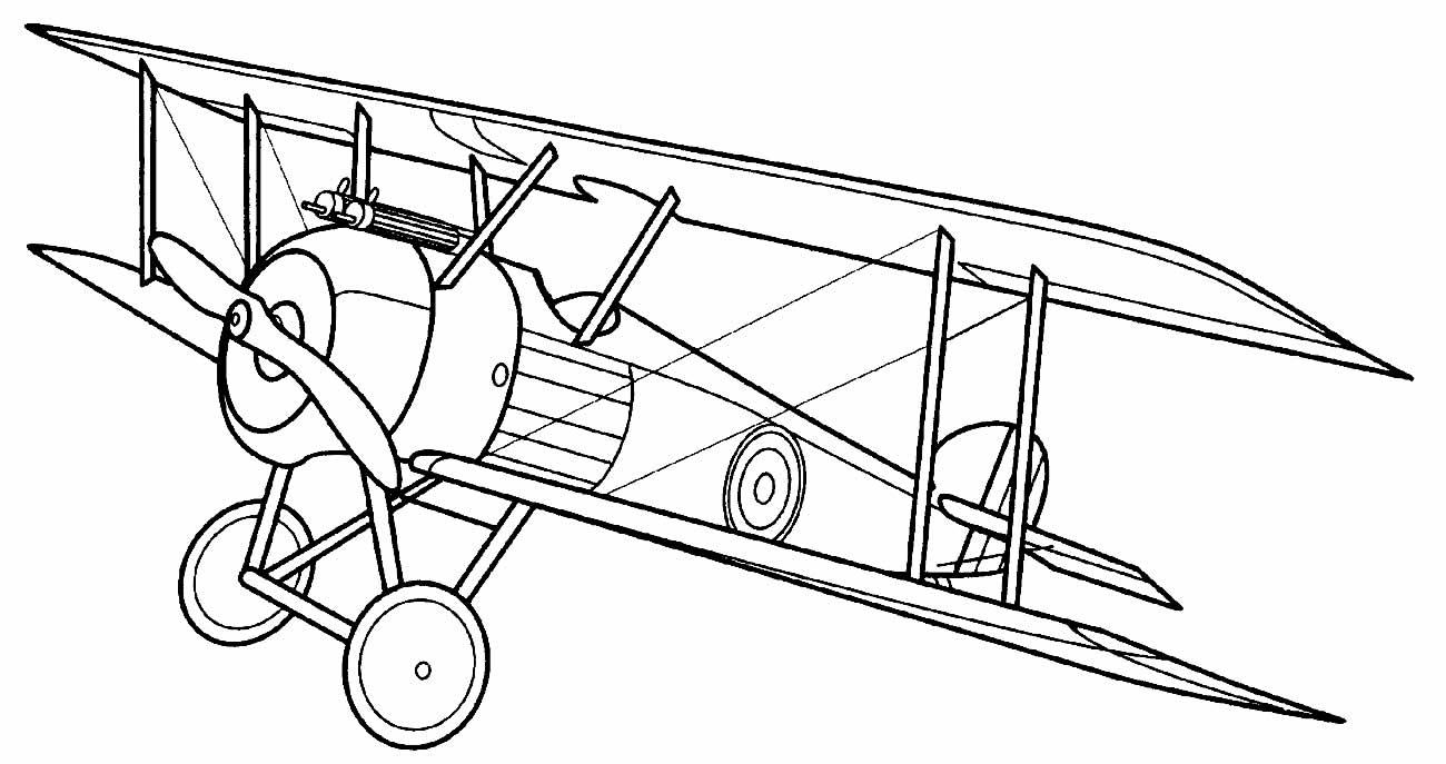 Desenho para colorir de avião