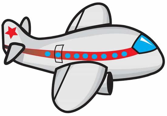 Desenho colorido de avião