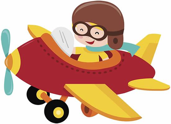 Desenho divertido de avião