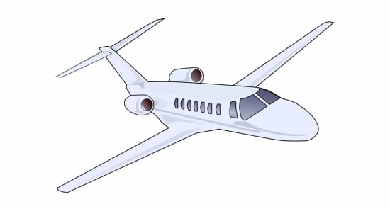 Desenho de avião