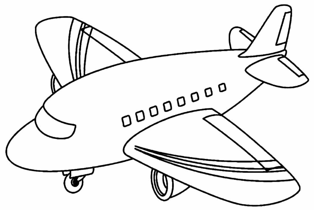 Desenho lindo de avião