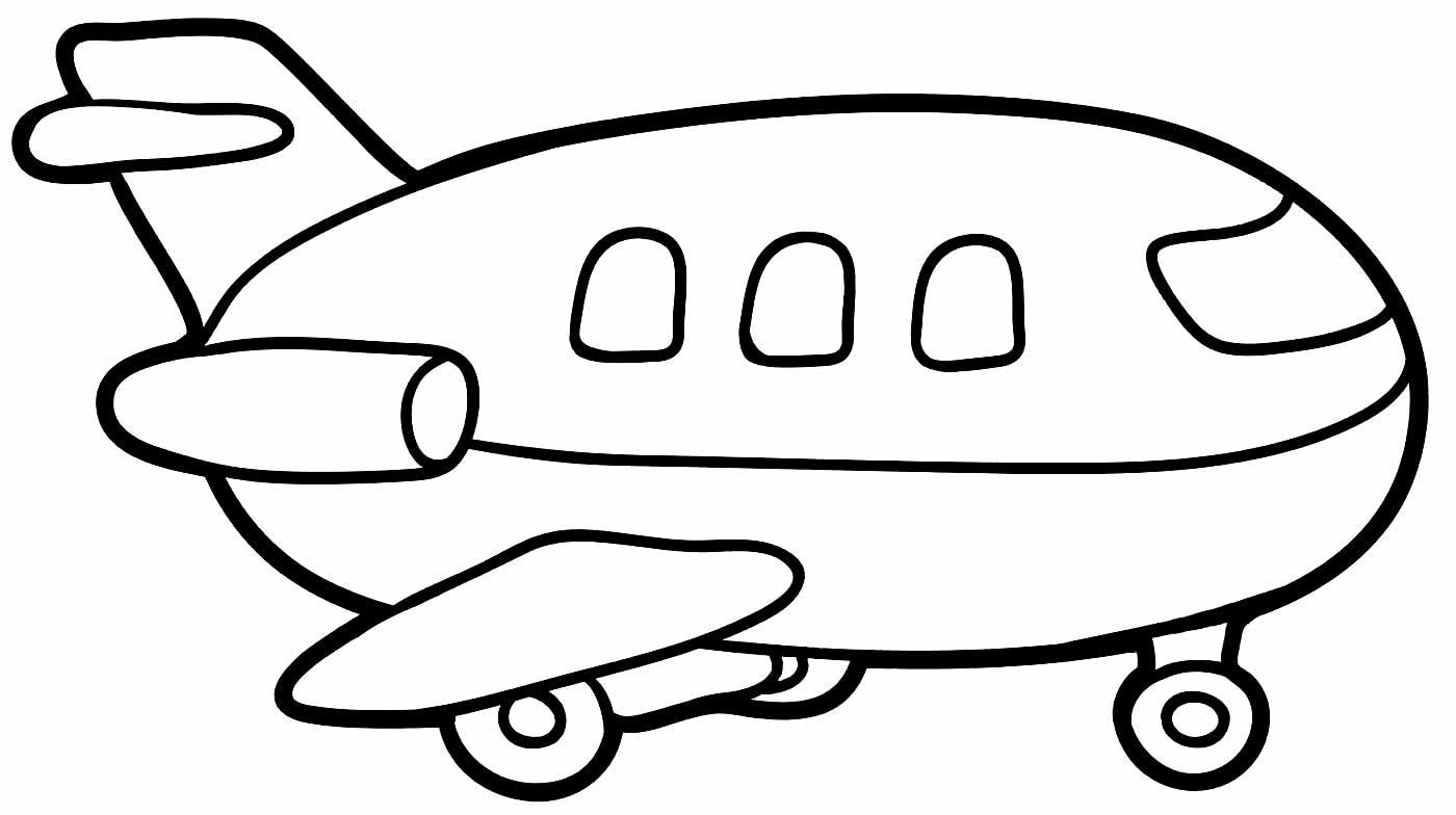 Desenho de avião para pintar