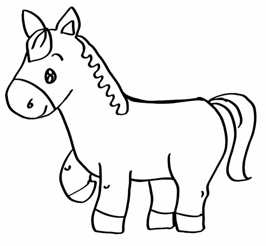 Desenhos de cavalinho para colorir