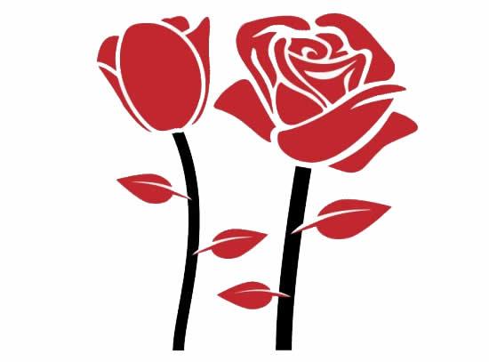 Desenhos Lindos de Rosa