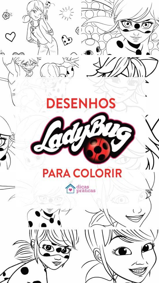 Desenhos para colorir da Ladybug