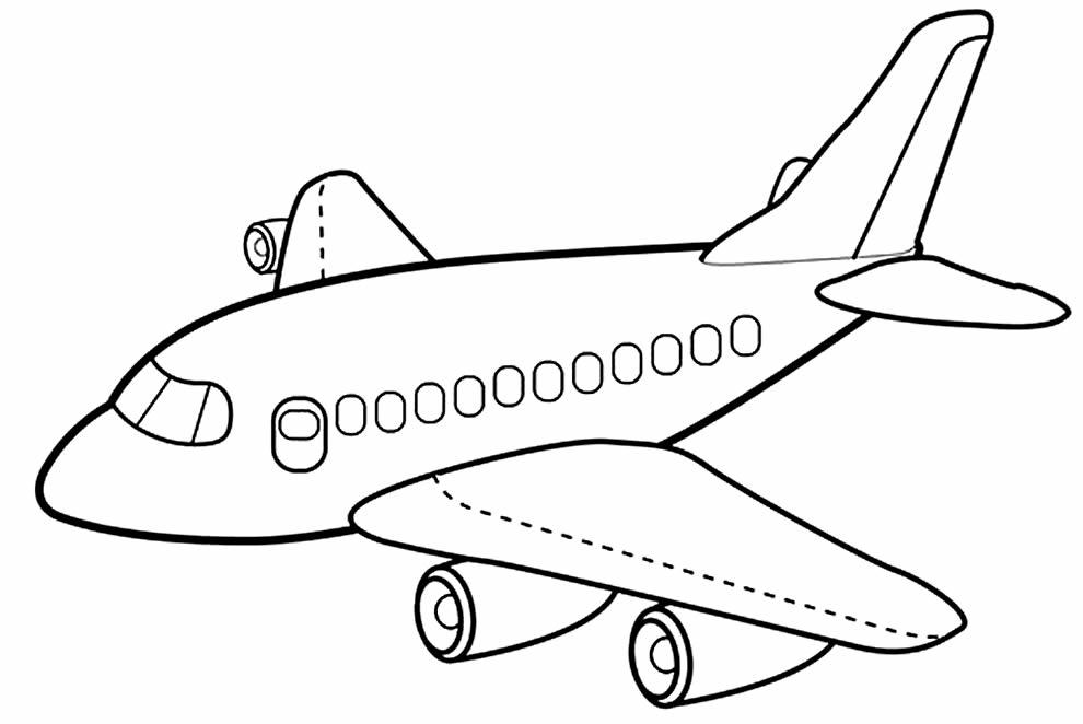 Molde de avião para imprimir
