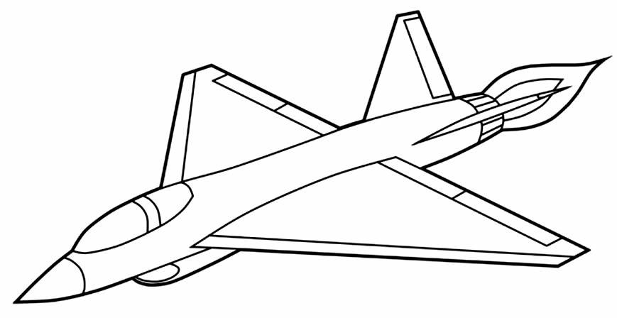 Imagem de avião para colorir