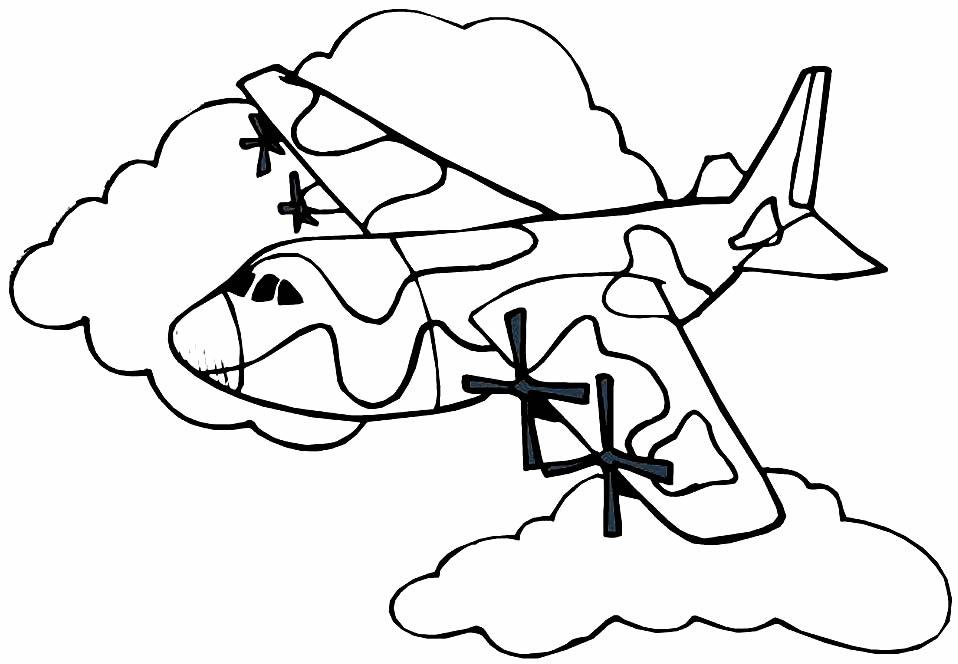 Imagem de avião para pintar