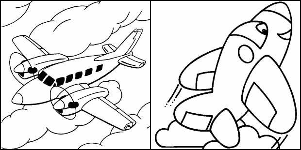 Desenhos para colorir de avião