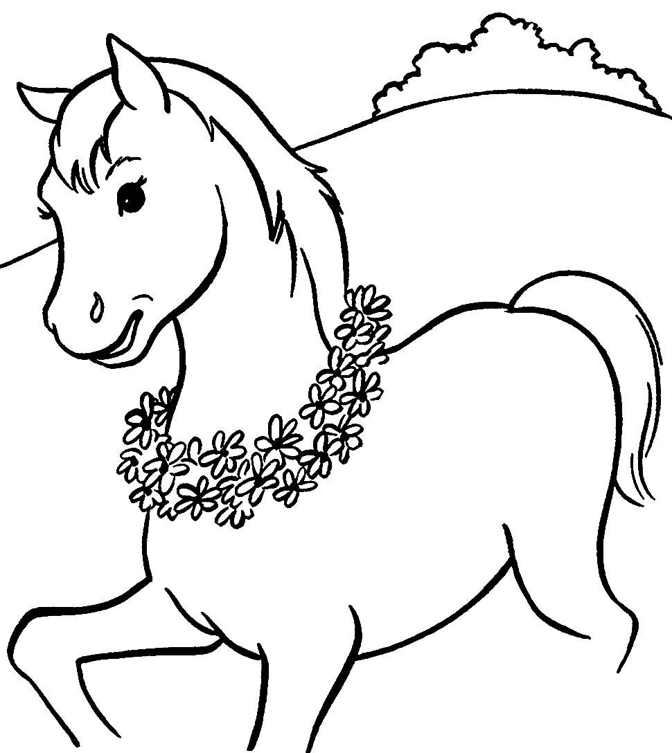 Desenho de Cavalo para colorir