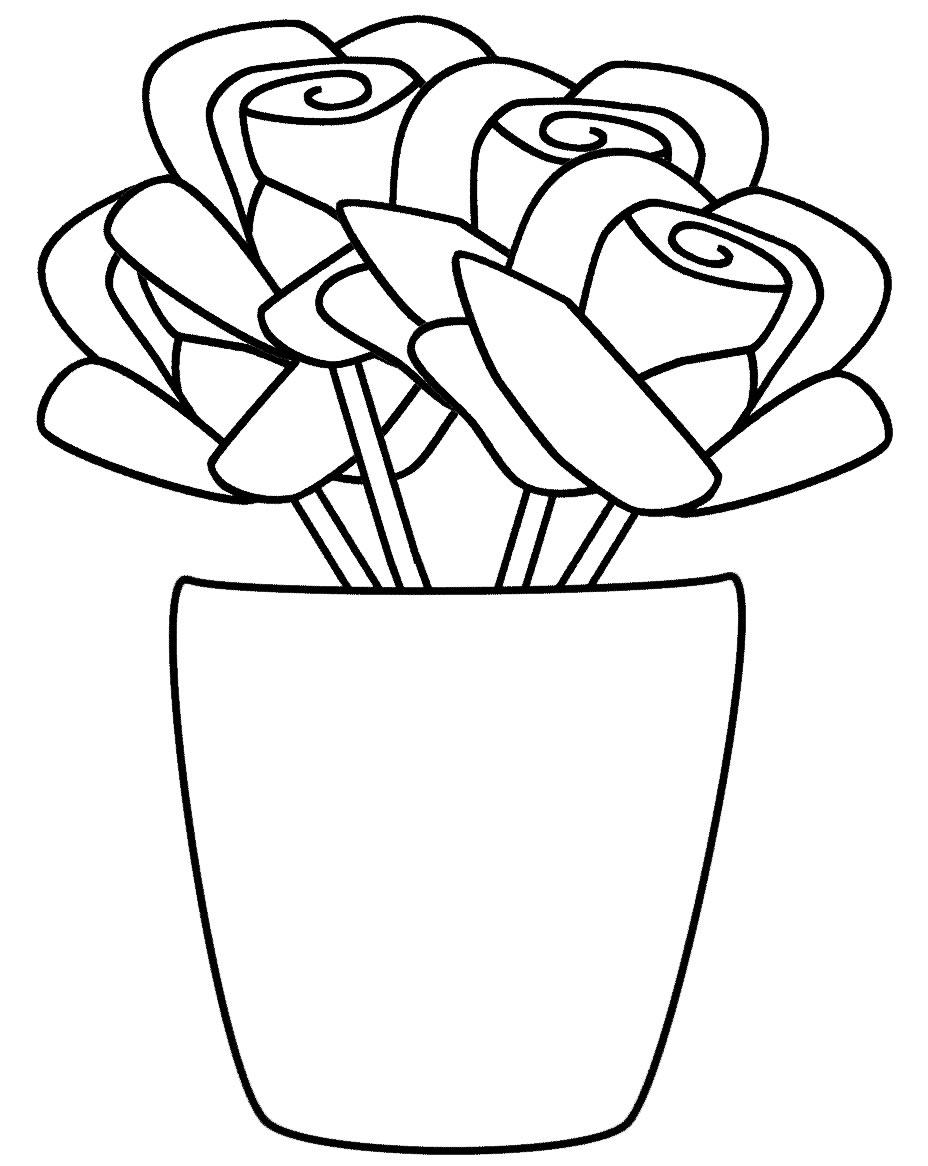 Desenho de Rosas para colorir