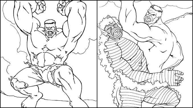 Desenhos para colorir do Hulk