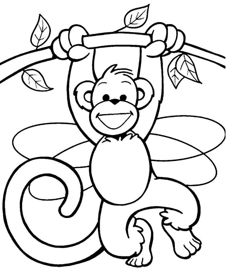 Desenho de Macaquinho para pintar