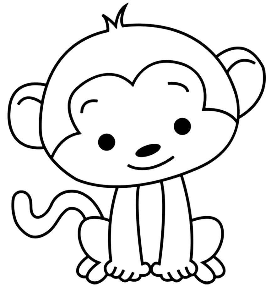 Desenho de Macaquinho para colorir