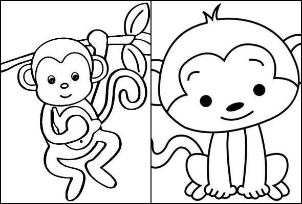 Desenhos de Macaquinho para colorir