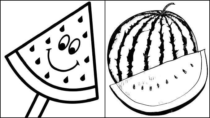 Desenhos para colorir de Melancia