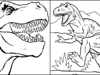 Desenhos para colorir de T-Rex