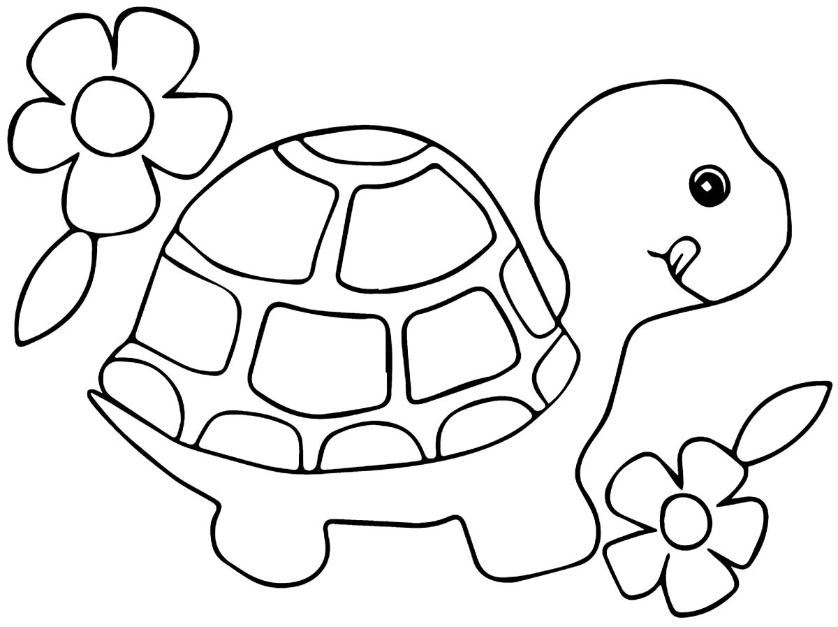 Desenho para colorir de Tartaruga