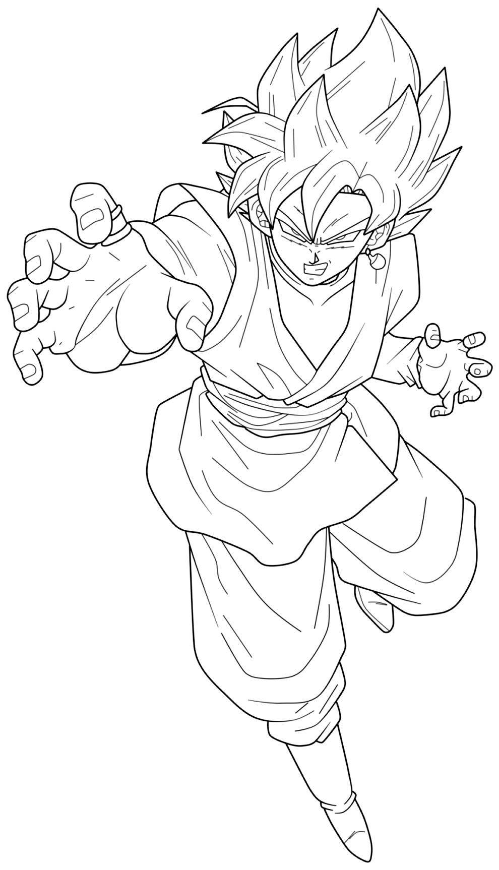 Molde do Goku para imprimir