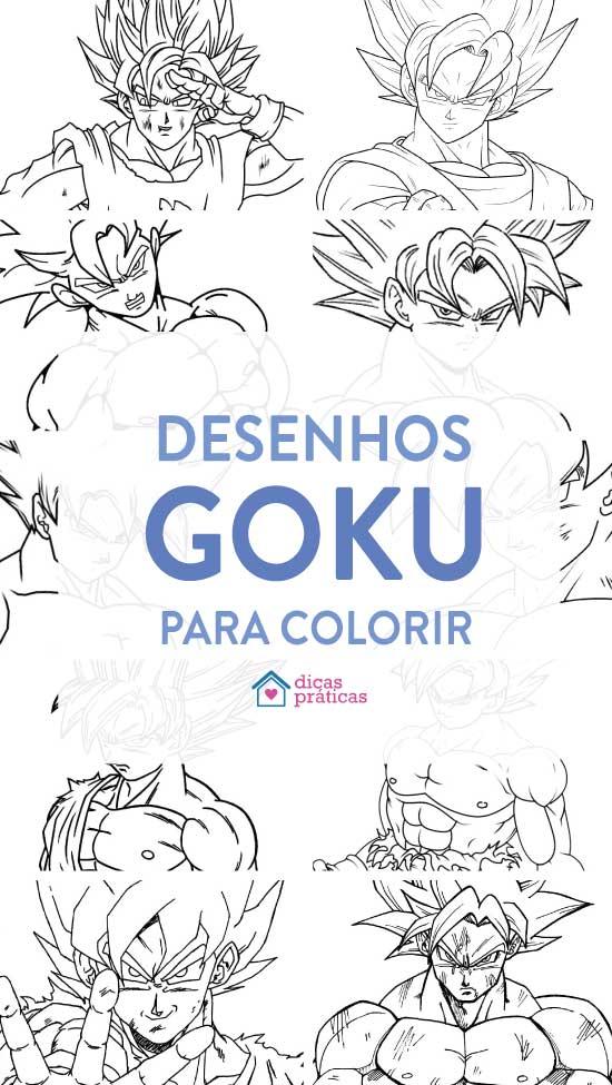 Desenhos do Goku para colorir