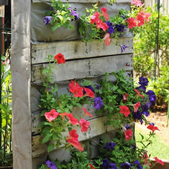Jardim vertical com pallets