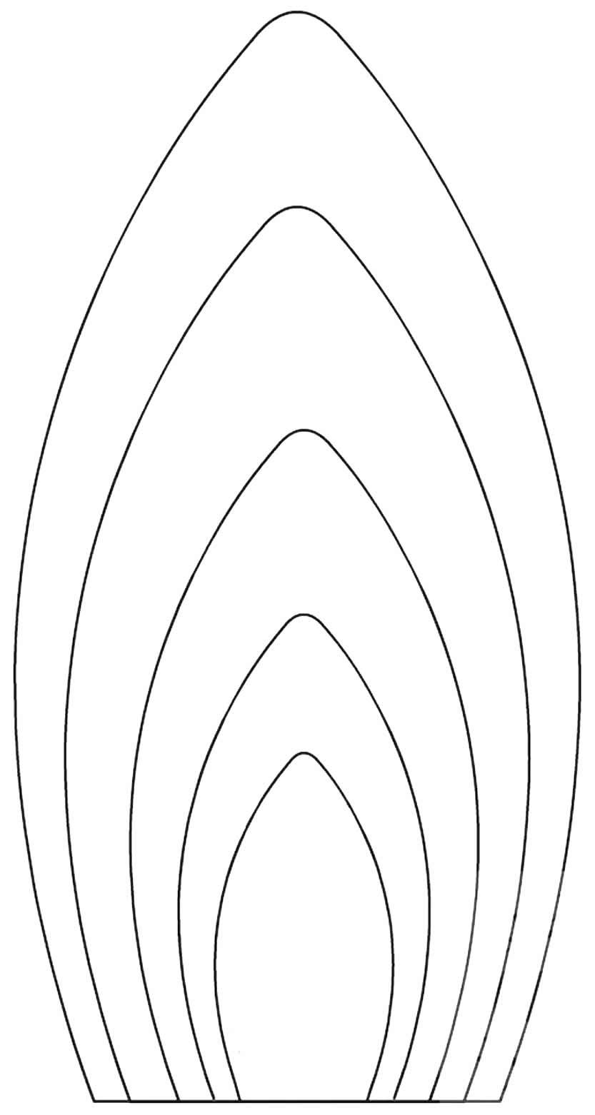 Modelos de pétalas de flor