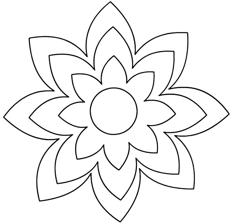 Moldes pétalas de flor
