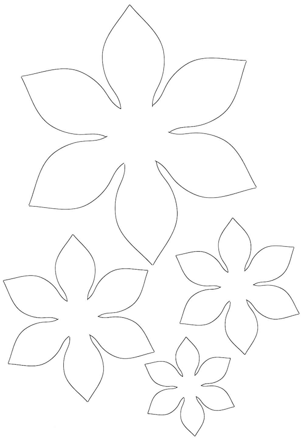Molde de pétalas de flor