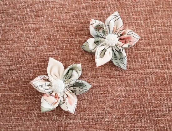 Flores de tecido decorativas