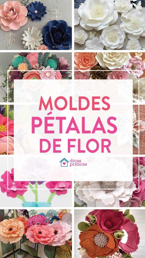Moldes de pétalas de flor: 30 modelos e ideias