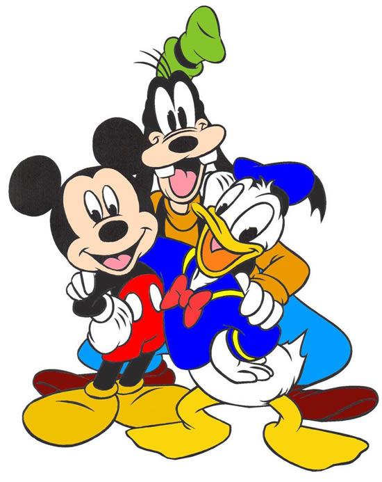 Desenho do Mickey, Pateta e do Pato Donald