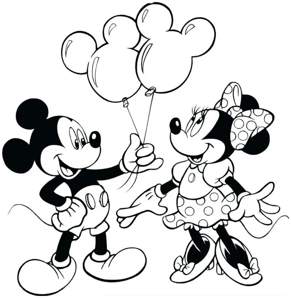 Molde da Minnie para colorir